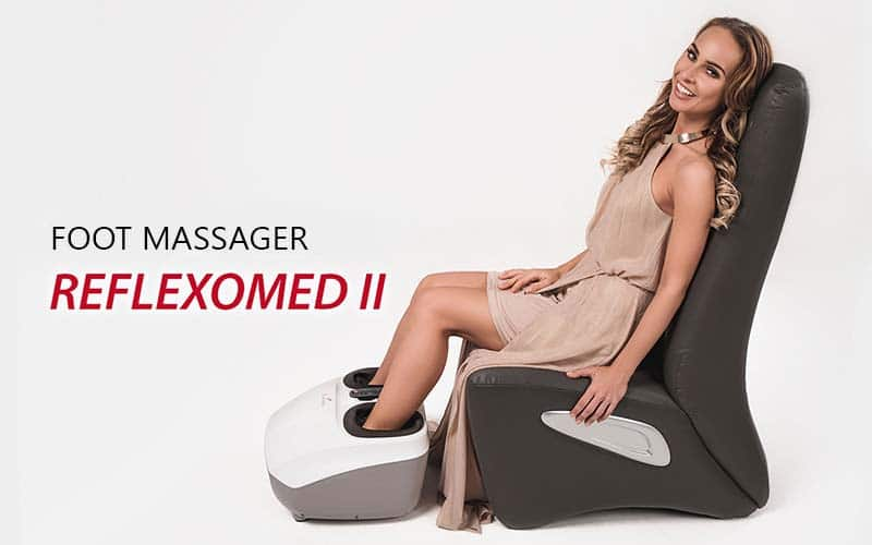 ReflexoMed IIfoot massager massages every area of the feet both comfortably and thoroughly